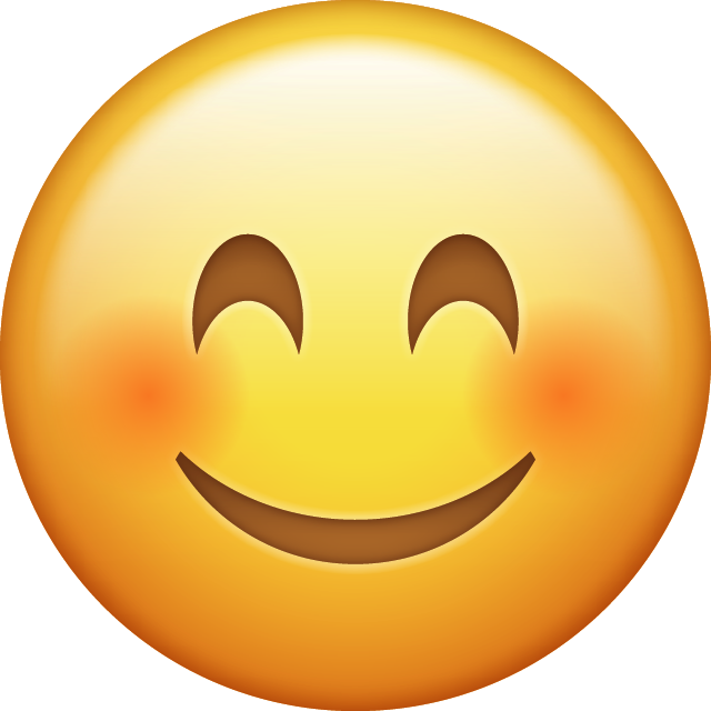 Blushed Smiling Emoji [Free Download IOS Emojis] Icon File HD PNG Image